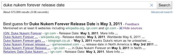 Google realease date