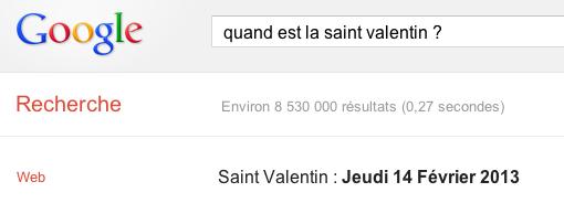 saint valentin google