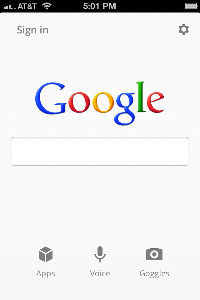 Google Search App Home