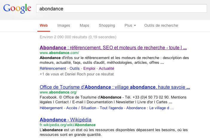 google serp france