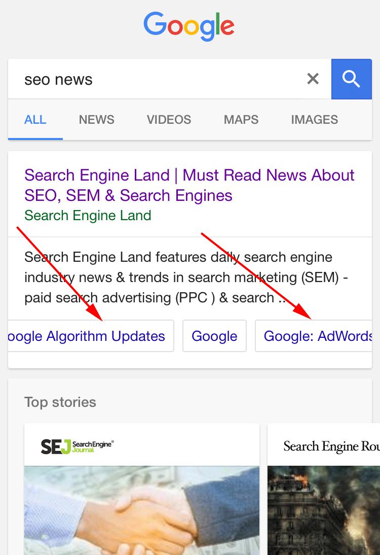 google-sitelinks-carousel