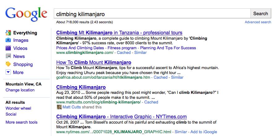 Google Social Search 1
