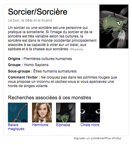 google halloween sorcier