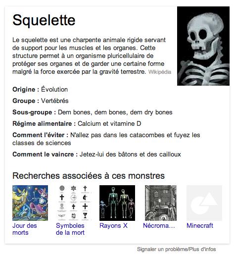 google halloween squelette