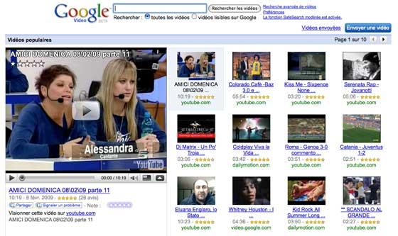Google Video Italie