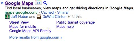 Google Maps social circle  +1