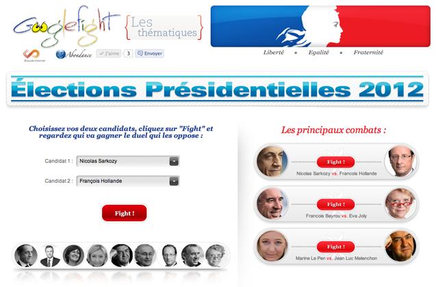 googlefight presidentielles