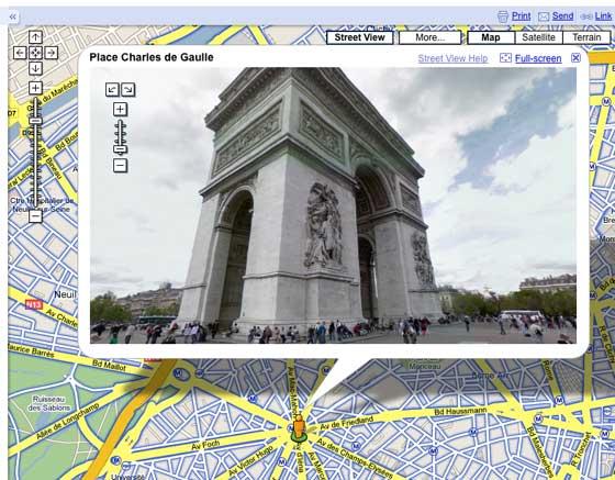 Googel Street Views Paris