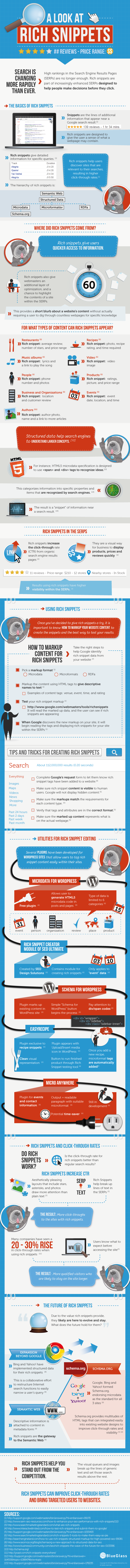 Infographie rich snippets