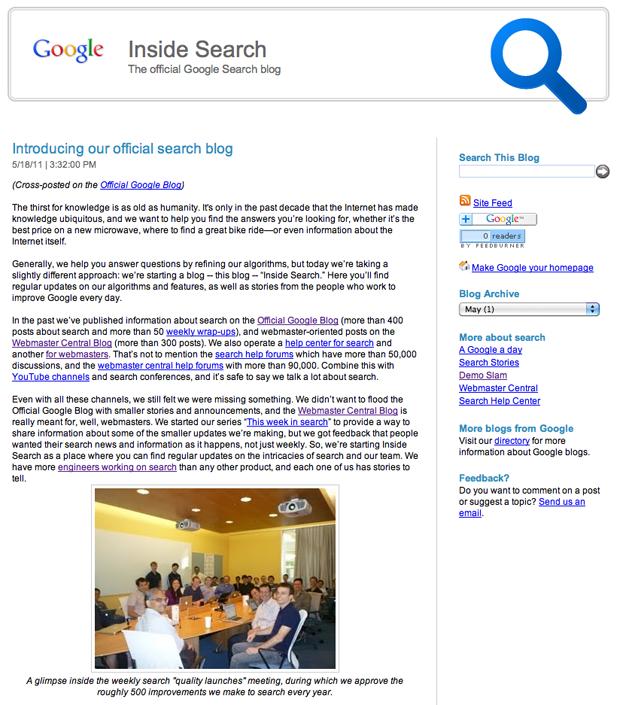Google Inside Search