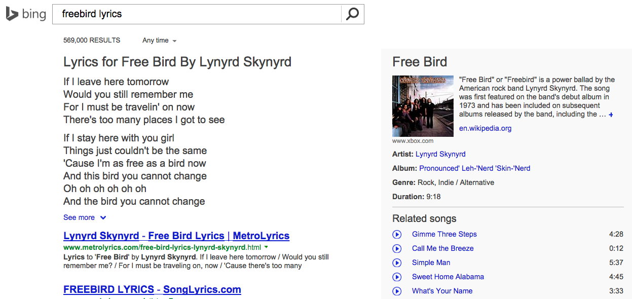 lyrics-bing