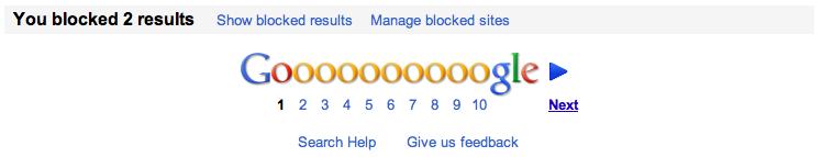 Blocage Google 2