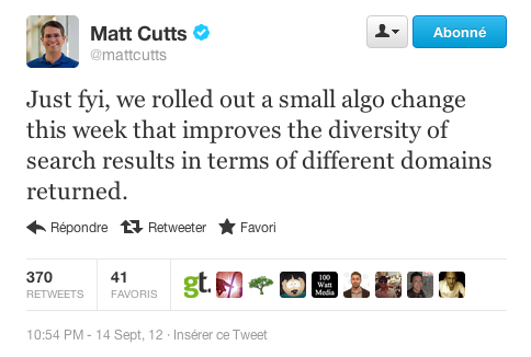 matt cutts serp