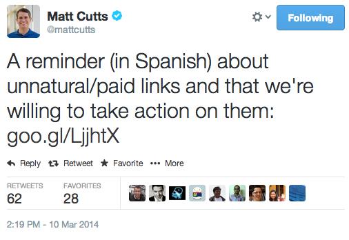 matt-cutts-tweet-liens-espagne