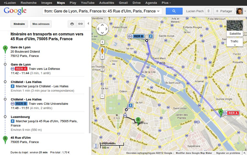 Metro Google Transit