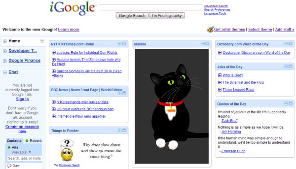iGoogle nouvelle version