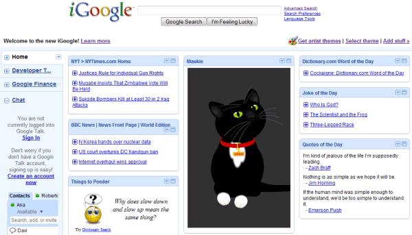 iGoogle nouvelle version