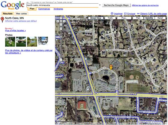 North Oaks Google Maps