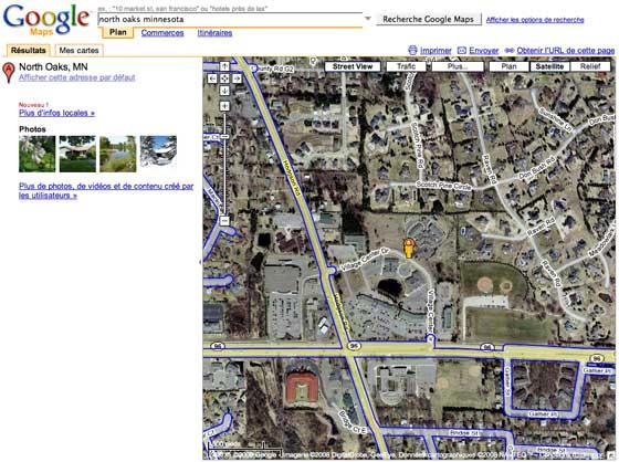 North Oaks Google Maps