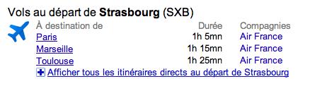 Google Onebox Travel