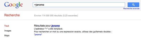 Operateur + Google