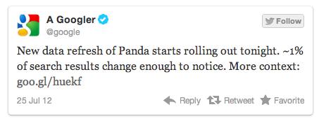 Panda 3.9 tweet