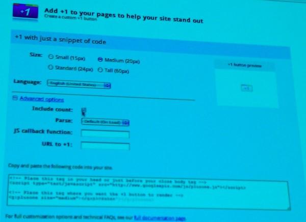 Bouton +1 pour site web