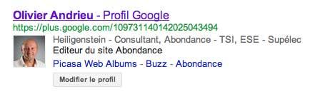 Oliveir Andrieu dans Google