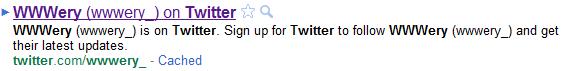 Profil Google Twitter ancien