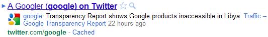 Profil Google Twitter nouveau
