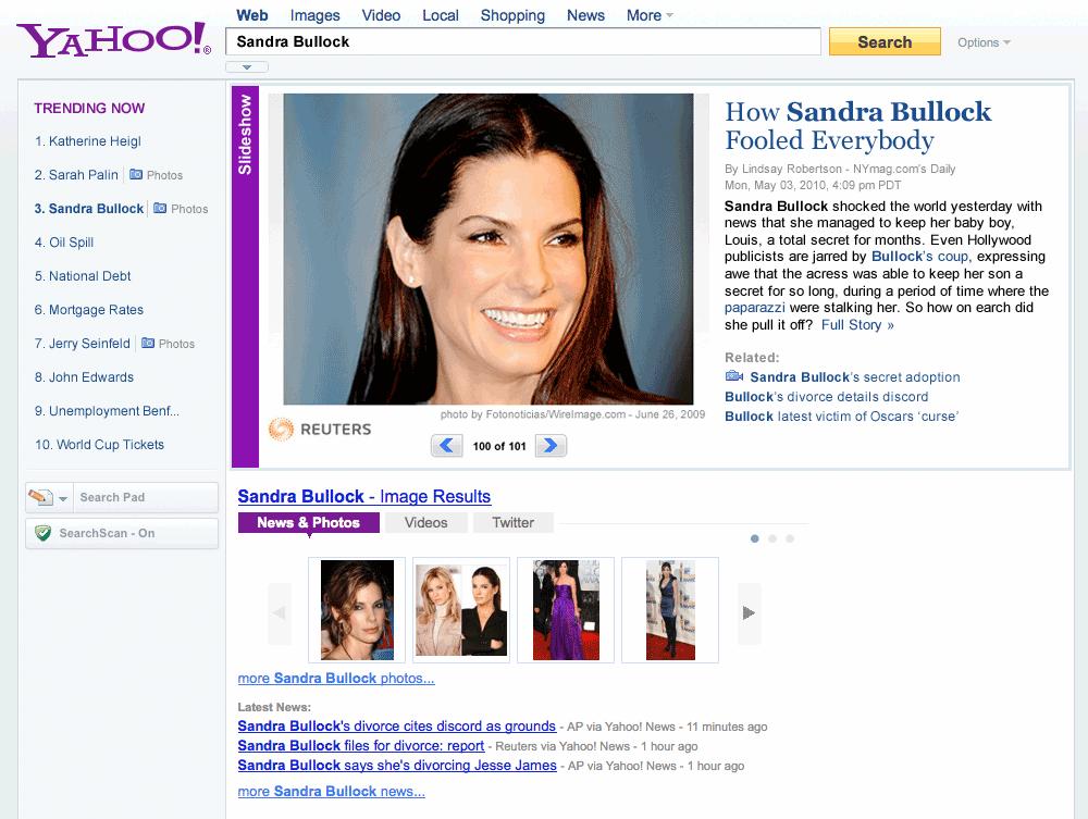 Yahoo! Trend Now