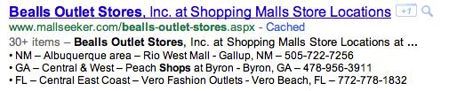 Snippet Googel Liste