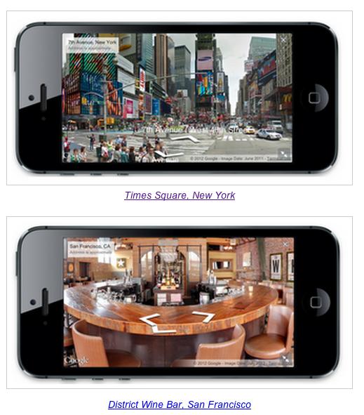 google street view iphone
