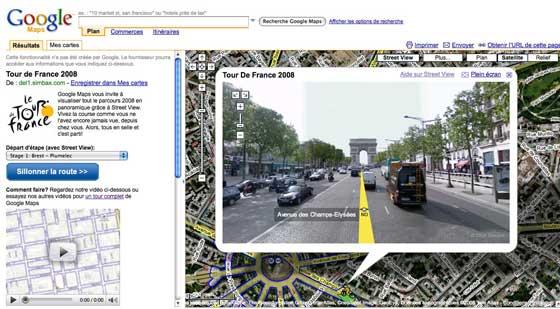 Tour de France - Google Maps Street Views