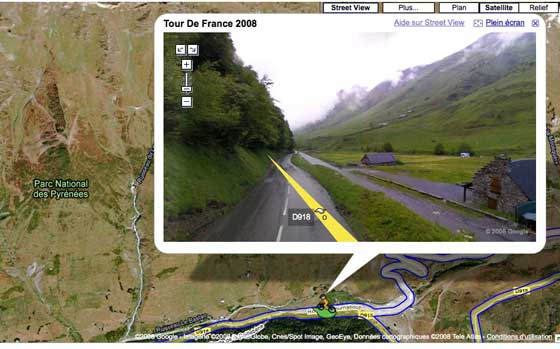 Tour de France - Google Maps Street Views