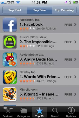 Ranking Appstore