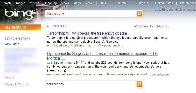 Torsoraphy par Bing