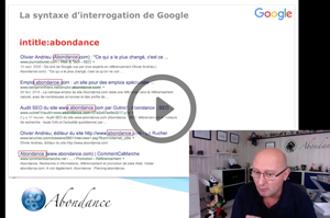 La syntaxe avancée d'interrogation de Google - Vidéo SEO