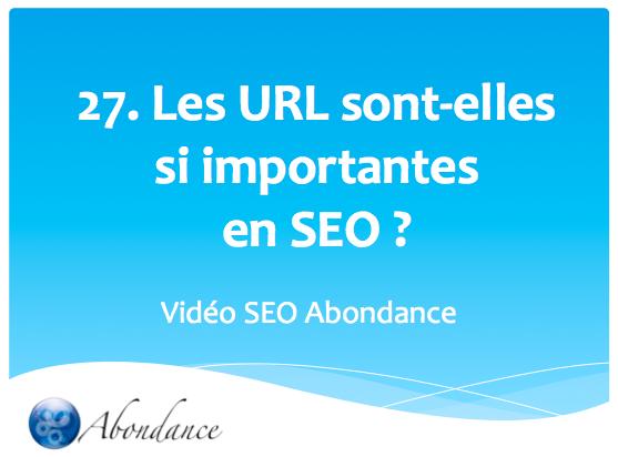 Les URL sont-elles si importantes en SEO ?