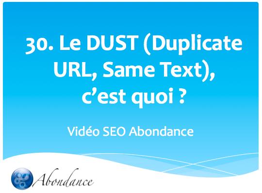 Le DUST (Duplicate URL, Same Text), c'est quoi ?