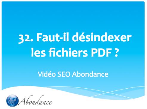 Faut-il (dés)indexer les fichiers PDF ?