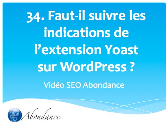 Faut-il suivre les indications de l'extension Yoast sur WordPress ?