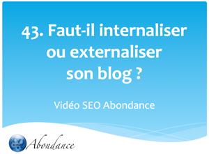 Faut-il internaliser ou externaliser son blog ?