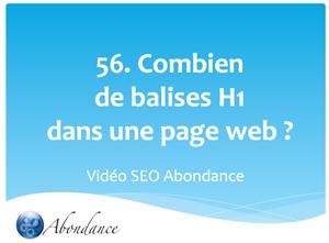 Combien de balises H1 dans une page web ?
