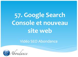 Nouveau Site Web et Compte Search Console