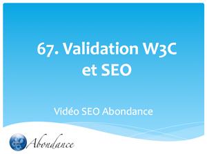 Une page web doit-elle être valide W3C pour être bien référencée ?