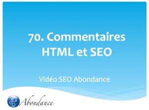 Commentaires HTML et SEO