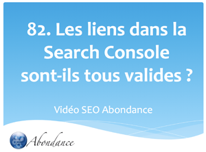 Les liens de la Search Console sont-ils tous valides ?
