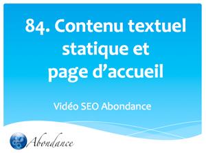 Texte Statique et Page d'Accueil