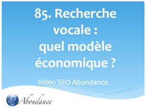 Quel modèle économique pour la recherche vocale ?
